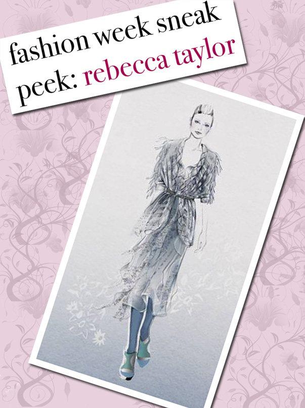 Fashion Week Sneak Peek: Rebecca Taylor post image