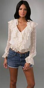 alice-and-olivia, Alice + Olivia, Blouse, Ruffled blouse, fashion, style, trend