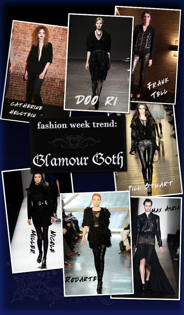 Fashion Week Trend: Glamour-Goth post image