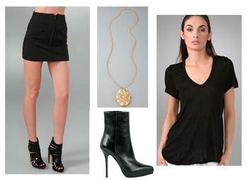 look-1-collage-use, Lindsay Lohan, Fashion, Style, Lindsay Lohan Style, Alexander Wang, Yves Saint Laurent
