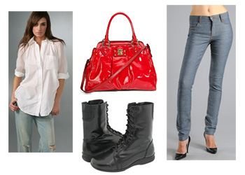 look-2, Rachel Bilson, Fashion, Style, Marc Jacobs, Cheap Monday, Pencey