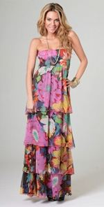 dallin-chase, dallin chase, maxis dress, dress, long dress, tiered dress, floral dress, boho dress, boho