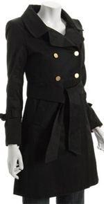 elie-tahari, elie tahari, coat, trench coat, fashion, black trench coat