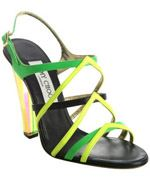 jimmy-choo, Jimmy Choo, Sandals, pumps, neon pumps, Fashion, Designer shoes, trend