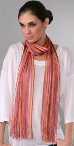 missoni, scarf, lightweight scarf, fashion