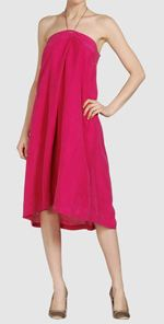 dvf, diane von furstenberg, dress, pink dress, halter dress, fashion, style