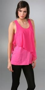 eandj, elizabeth and james, tank, top, pink top, fashion, style
