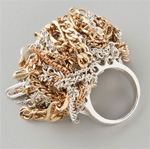 Body- sid, Sid Vintage jewelry, ring, statement ring, multi chain ring, jewelry
