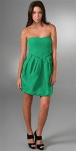 see by chloe, dress, strapless dress, fashion, style, trend