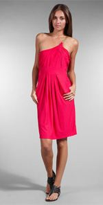 tbags2, t-bags, dress, one shoulder dress, pink dress, fashion, trend