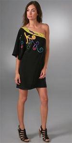 tibi, dress, one shoulder dress, fashion, trend, boho dress