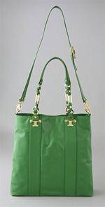 tory burch, bag, handbag, tote, green tote