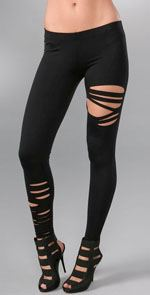 David Lerner, fashion, style leggings, ripped leggings