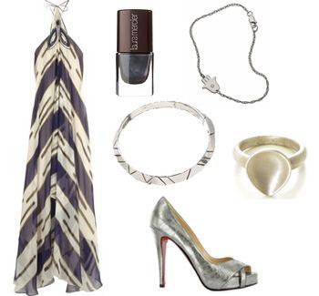 Look 3 collage, Lauren conrad, fashion, style, 3.1 Phillip Lim, Christian Louboutin, House of Harlow, Laura Mercier