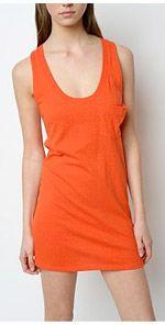 bdg, tank top, tunic, orange tunic, tunic dress, fashion, style