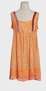 blumarine, dress, orange dress, fashion, style