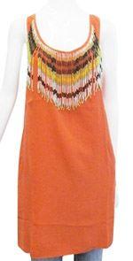 chelsea flower, dress, orange dress, tunic dress, fashion, style
