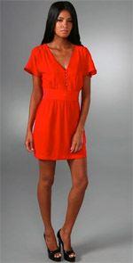 dolce vita, dress, orange dress, fashion, style