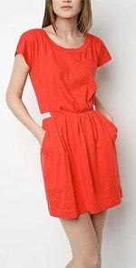 silence, silence & Noise, dress, tunic, orange dress