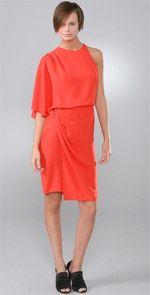 wang, alexander wang, dress, orange dress, fashion, style