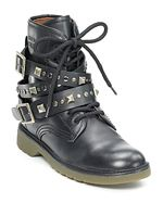 see2, see by chloe, shoes, boots, lace up boots, studded boots