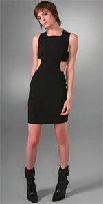 alexander wang dress, dress, alexander wang, black dress, cut out dress