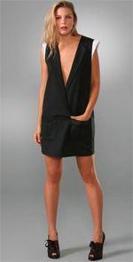 american retro, dress, black dress, little black dress, tux dress