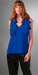 geren ford, top, blue top, blouse