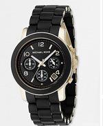 kors black, michael kors, watch, black watch