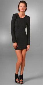 kova & t, dress, black dress, lbd, long sleeve black dress