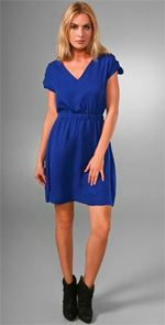 loeffler randall, dress, fashion, style, blue dress