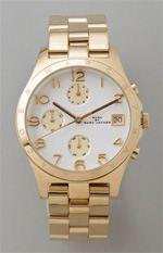 marc by marc jacobs, watch, gold watch, boyfriend watch