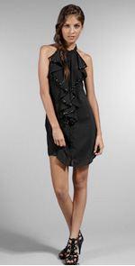 minkpink, dress, black dress, lbd, ruffled dress