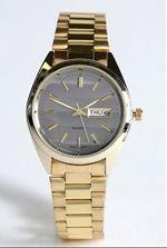 urban, watch, gold watch