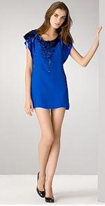 yoanna baraschi, yoana baraschi, dress, blue dress, mini dress