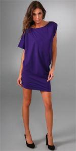 diane von furstenberg, dress, purple dress, tunic dress