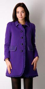 sonia by sonia rykiel, pea coat, purple pea coat