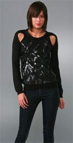 charlotte ronson, sweater, sequined sweater