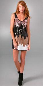 tibi dress, tibi, sequin dress