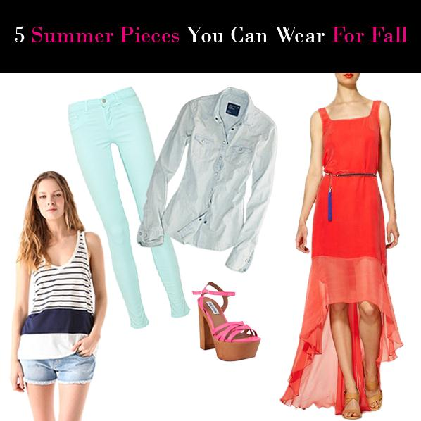 Summer Pieces You Can Wear For Fall post image