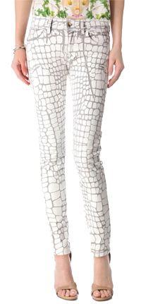 Croc Coated Skinny Jeans