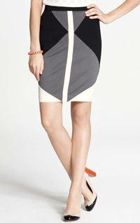 Ann Taylor colorblocked skirt