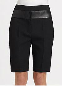 Alexander wang leather waist bermuda shorts
