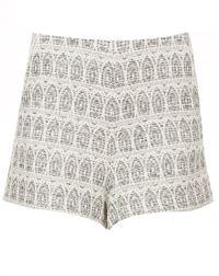 topshop aztec shorts