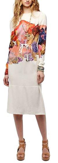 TBA Lydia Silk Midi Dress