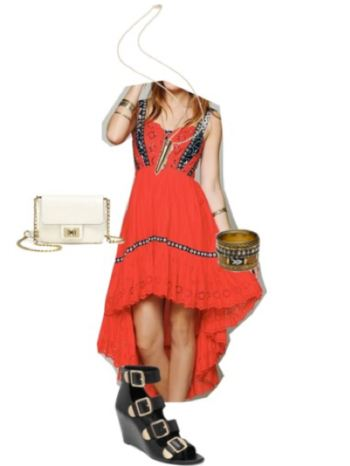 look 2 - high low dress