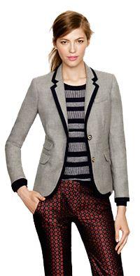 Schoolboy blazer in tipped wool