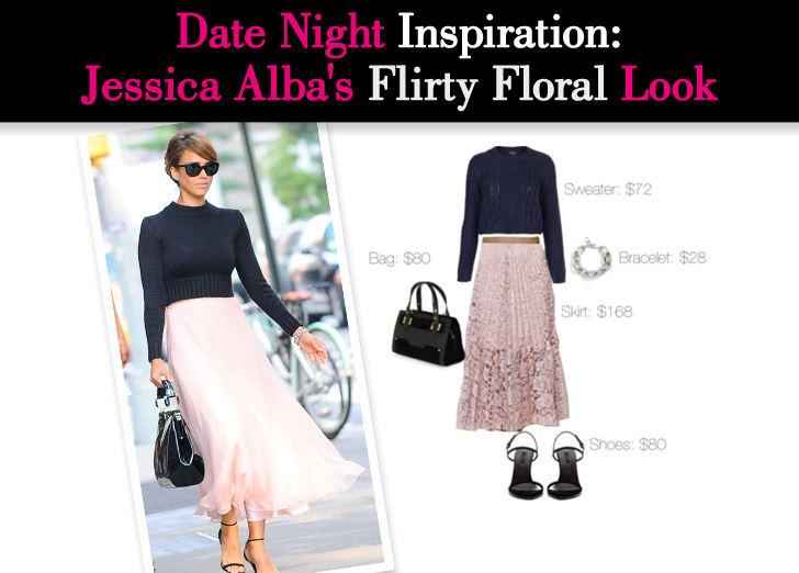 Date Night Inspiration: Jessica Alba's Flirty Floral Look post image