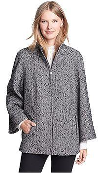 Herringbone Tweed Cape