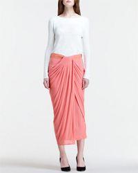 helmut lang drape front skirt